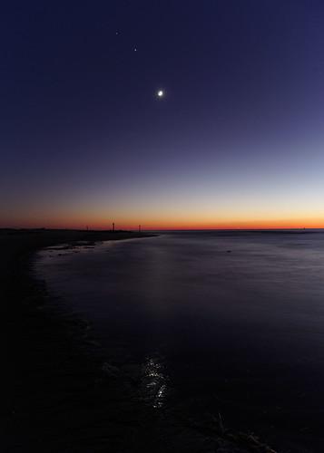 astronomy astrophotography sunset moon baldheadisland easternnorthcarolina capefearriver pentax k1 smcpentaxa12824mm iridientdeveloper