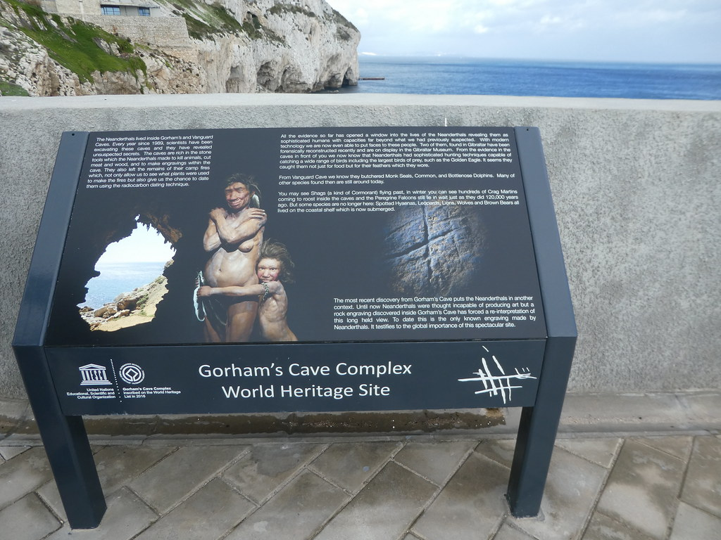 Sign at Gorham's Cave Complex, Gibraltar