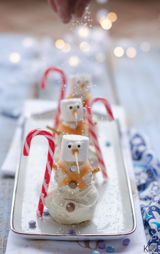 Muffin pupazzo di neve