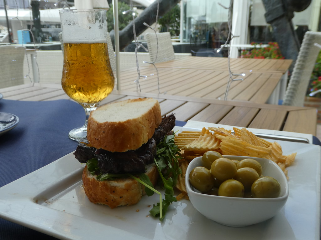 Steak & caramelised onion sandwich, Monique's Bistro, Gibraltar