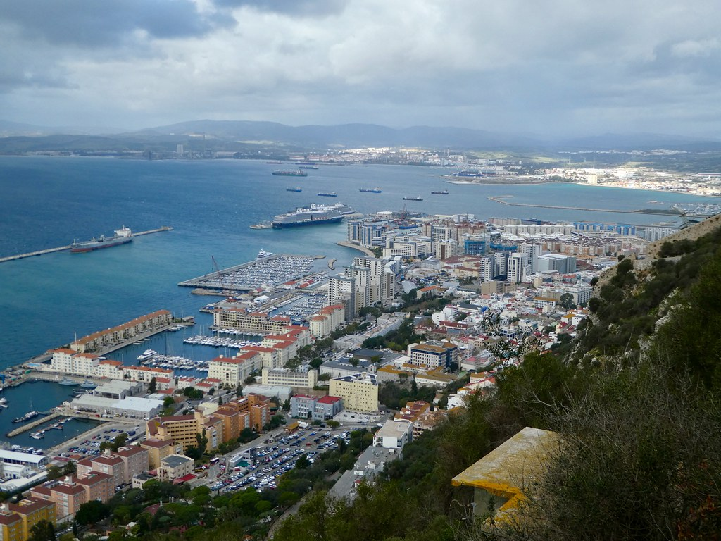 View from the Windsor Suspension Bridge, GIbraltar