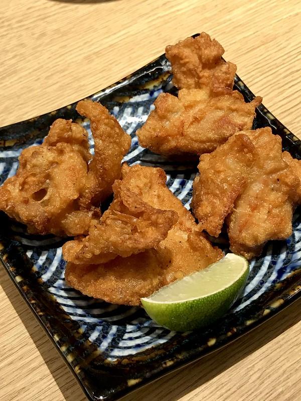 Karaage chicken at Tenya