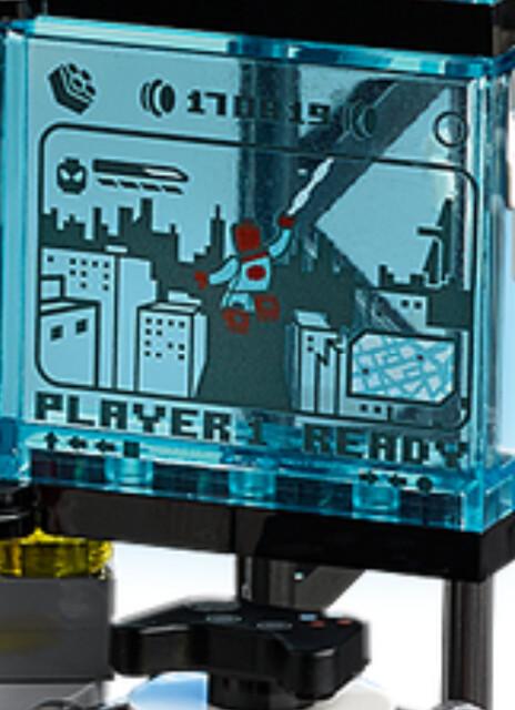 Lego Spider Man Lair: video game sticker screen