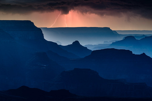 grandcanyonnationalpark arizona sunset lightning storm flickrunitedaward fantasticnature