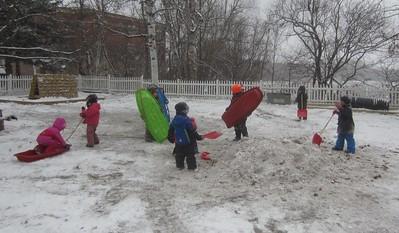sleds and shovels