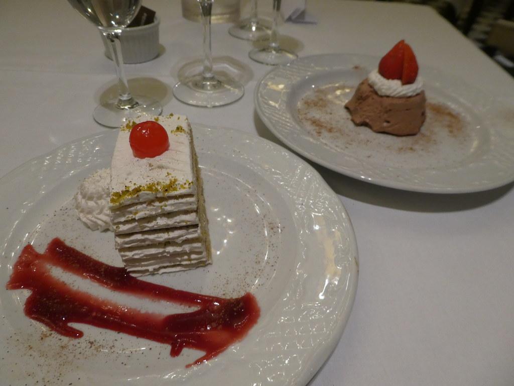 Desserts, Terrace Restaurant, Rock Hotel, Gibraltar