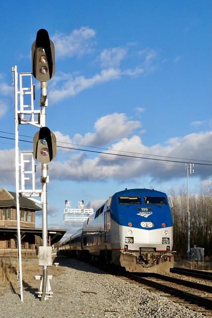 Amtrak at Selma, NC