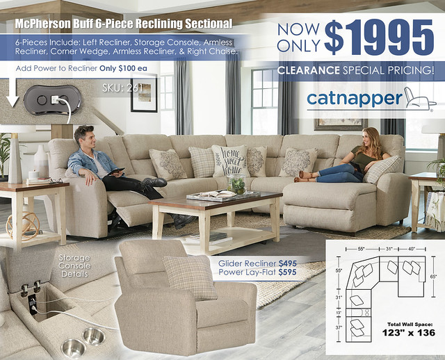 McPherson Buff Reclining 6 PC Sectional_261_Update