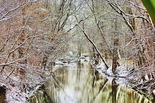 river creek nature landscape outdoors winter snow ohio