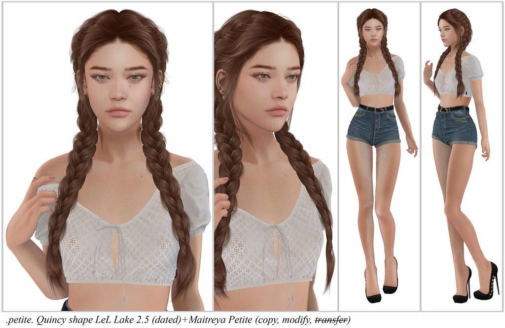.petite. Quincy shape LeL Lake 2.5 (dated)+Maitreya Petite