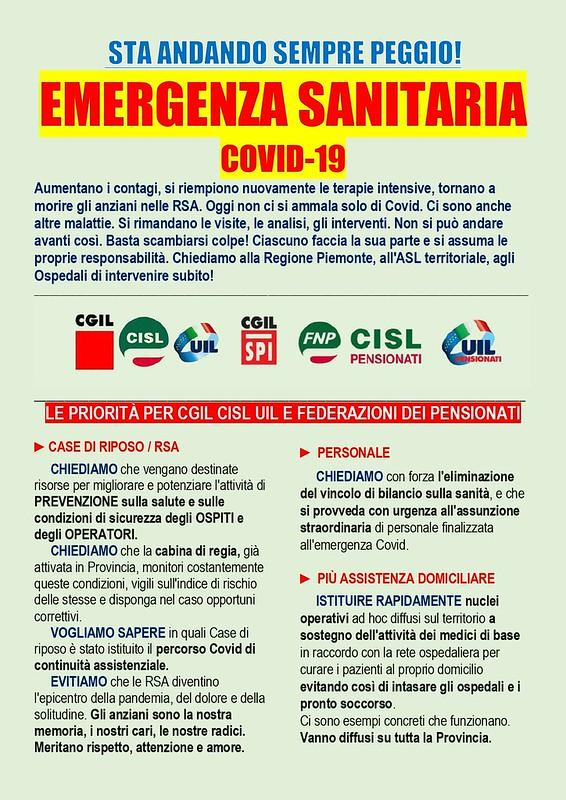 EMERGENZA SANITARIA COVID-19 Presidio 19 novembre 2020