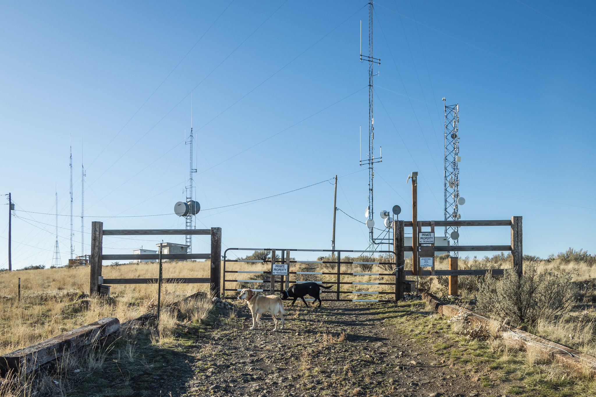 Radio towers on Chandler Butte
