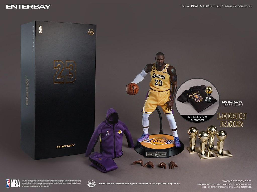 ENTERBAY  NBA系列 Real Masterpiece 洛杉磯湖人隊「LEBRON JAMES」1/6比例蠟像級可動人偶