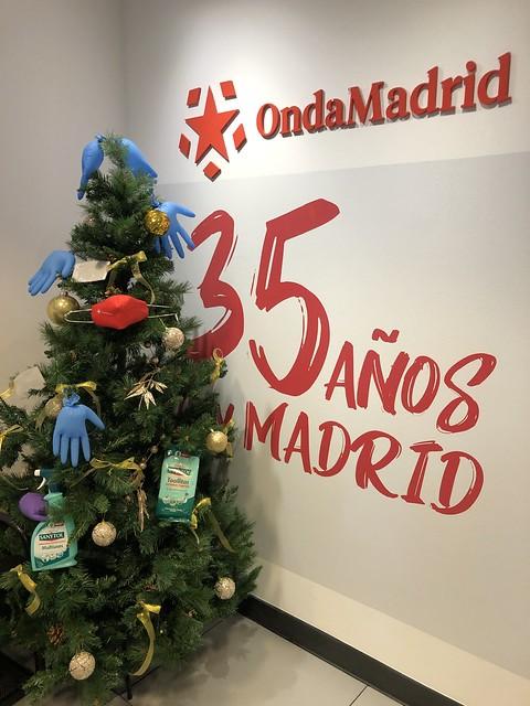 Árbol de Navidad en Onda Madrid