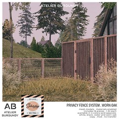 Atelier Burgundy . Privacy Fence Worn SS