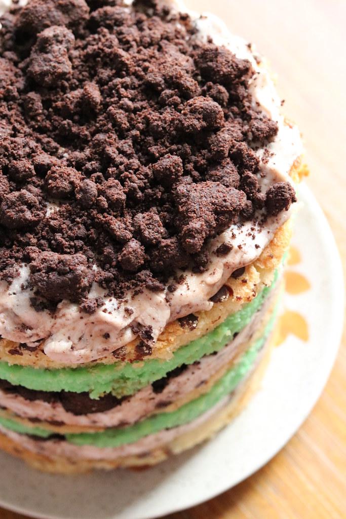Momofuku Milk Bar Mint Cookies and Cream Layer Cake