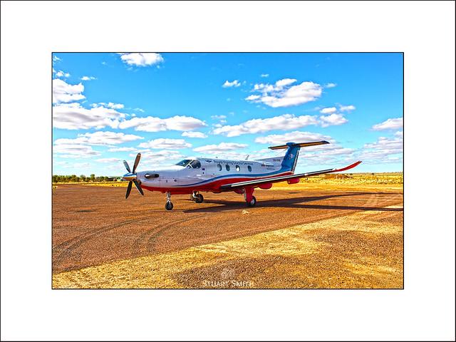 Royal Flying Doctor Service Aircraft, Oodnadatta Track, William Creek, South Australia, Australia