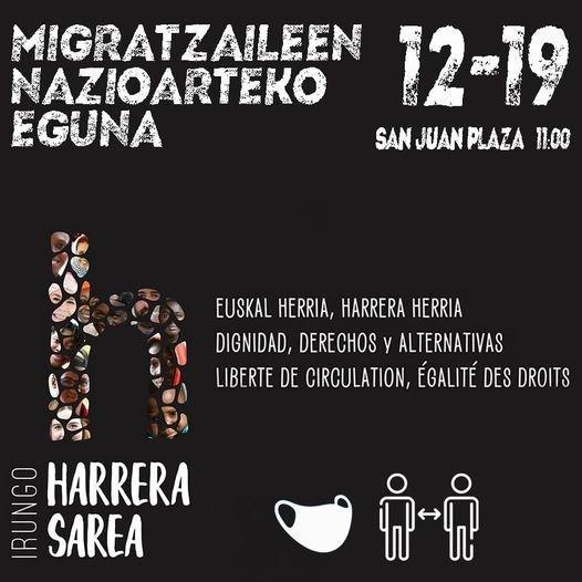 concentración  Irungo Harrera Sarea 19 12 2020