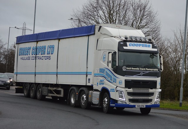 Ernest Cooper YK19 ZFN On The A5 At Oswestry