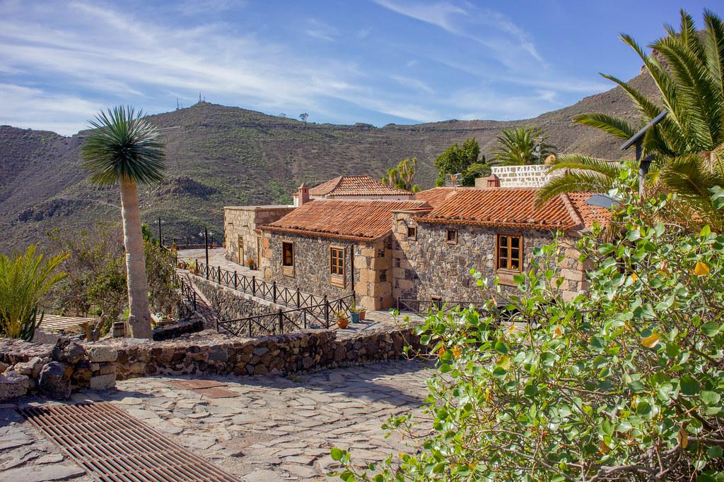 Caserío de la Hoya en el sur de Tenerife