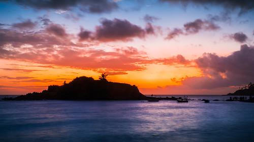 asia srilanka mirissa beach sunset sea waves sony longexposure sonyα6300 sonyepz18105mmf4goss