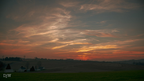 sunset photography art landscape nikkor outside outdoor countryside country clouds sky sun view hills pennsylvania mountains nature countryliving countrylife dusk evening