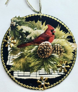 ATCoin Bird Themed Christmas Ornament | by Donetta's Beaded Treasures