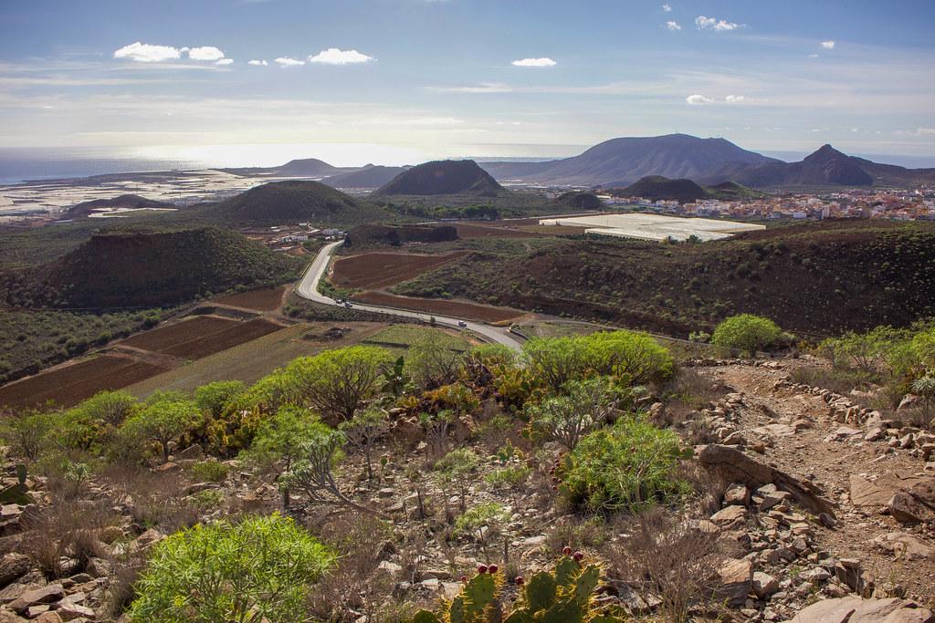 Paisaje volcánico en el sur de Tenerife