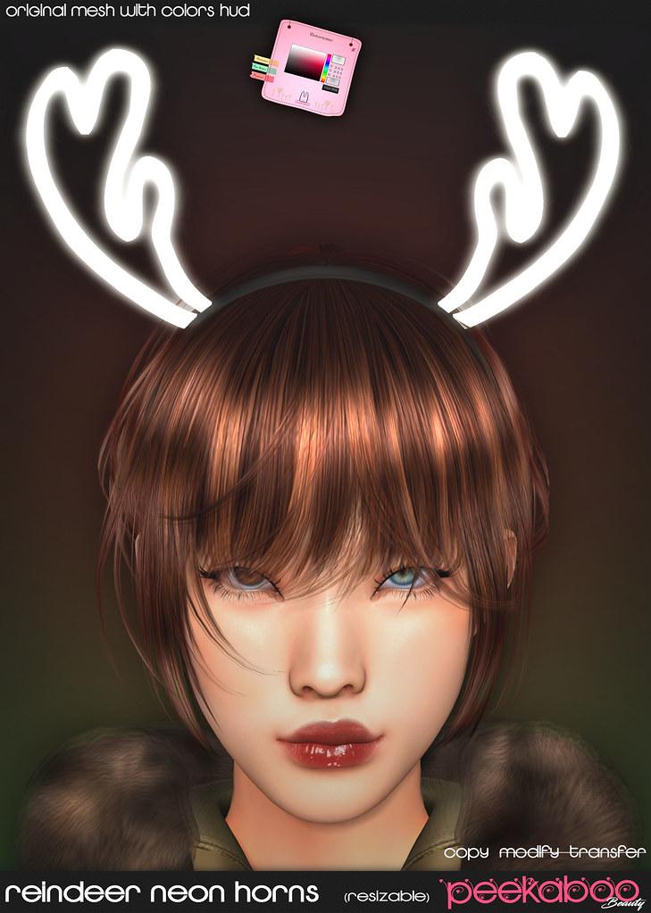 Reindeer Neon Horns AD