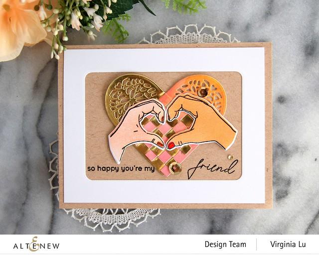 Altenew-A little Bit of Love Stamp & Die Bundle-Woven Heart Die Set-002