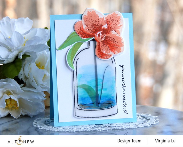 Altenew-Versatile Vases 2 Stamp & Die Bundle-Spotted Orchid Stamp Stencil & Die Bundle