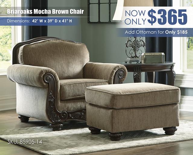Briaroaks Mocha Brown Chair_85905-20-14