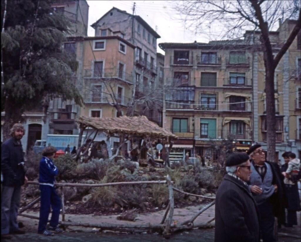 Belén en la Plaza de Zocodover de Toledo el 30 de diciembre de 1977. Fotografía de Peter Laurence