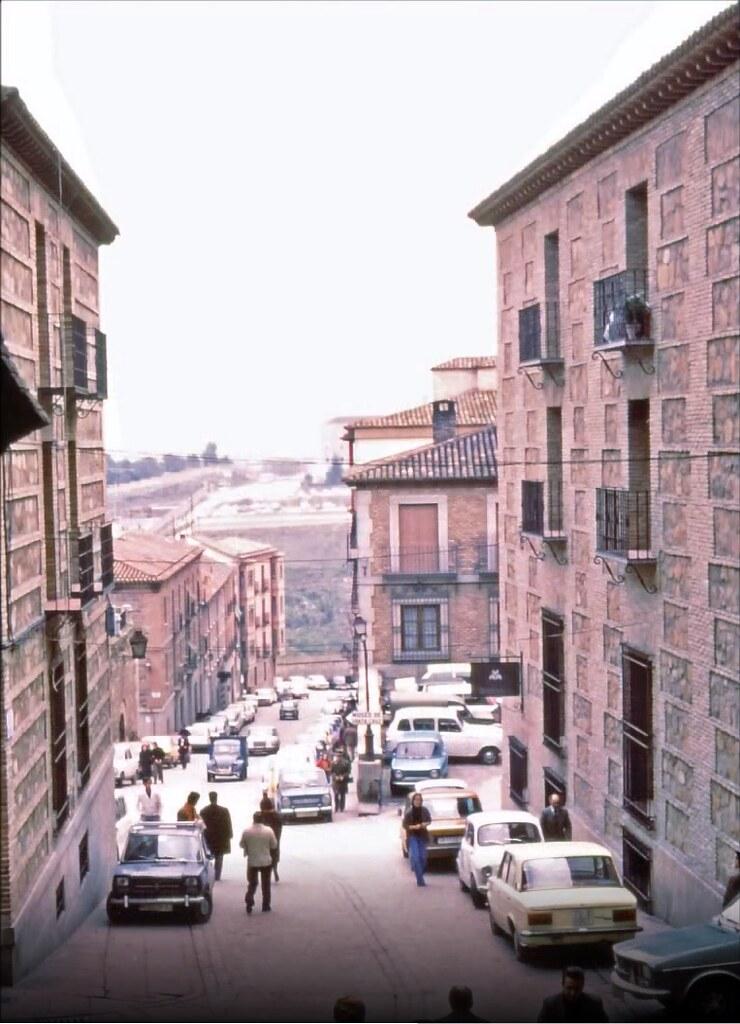 Calle Cervantes en Toledo el 30 de diciembre de 1977. Fotografía de Peter Laurence