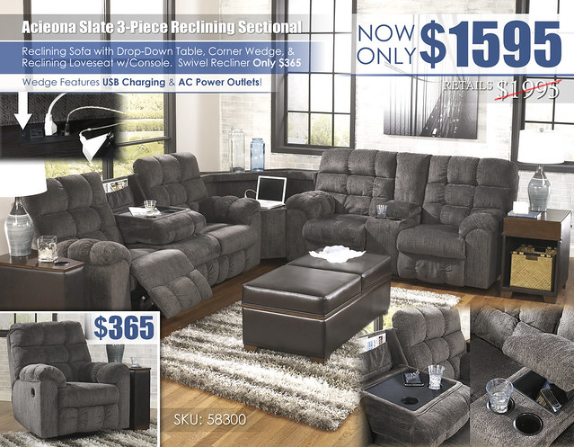 Acieona Slate Reclining 3-Piece Sectional_58300-SEC-T661-OPEN-SD_Update