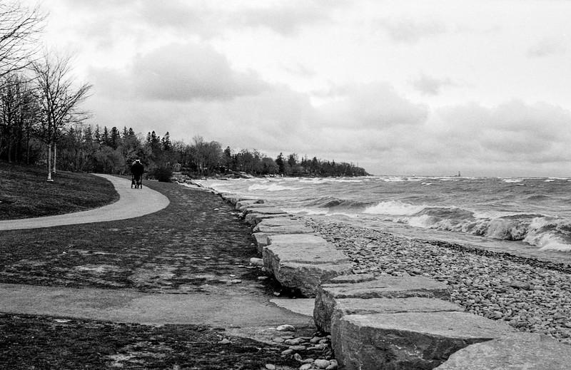 Rough Lake Ontario Shores