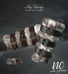 [NC] - Sky furry Bracers - NEW GIFT!!!