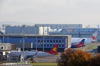 A320n B-320W Tianjin with Air Calin F-OTIB behind