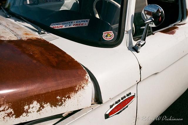 Rusty Ford Pickup Hood on Film