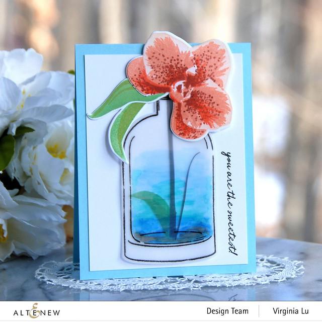 Altenew-Versatile Vases 2 Stamp & Die Bundle-Spotted Orchid Stamp Stencil & Die Bundle-002