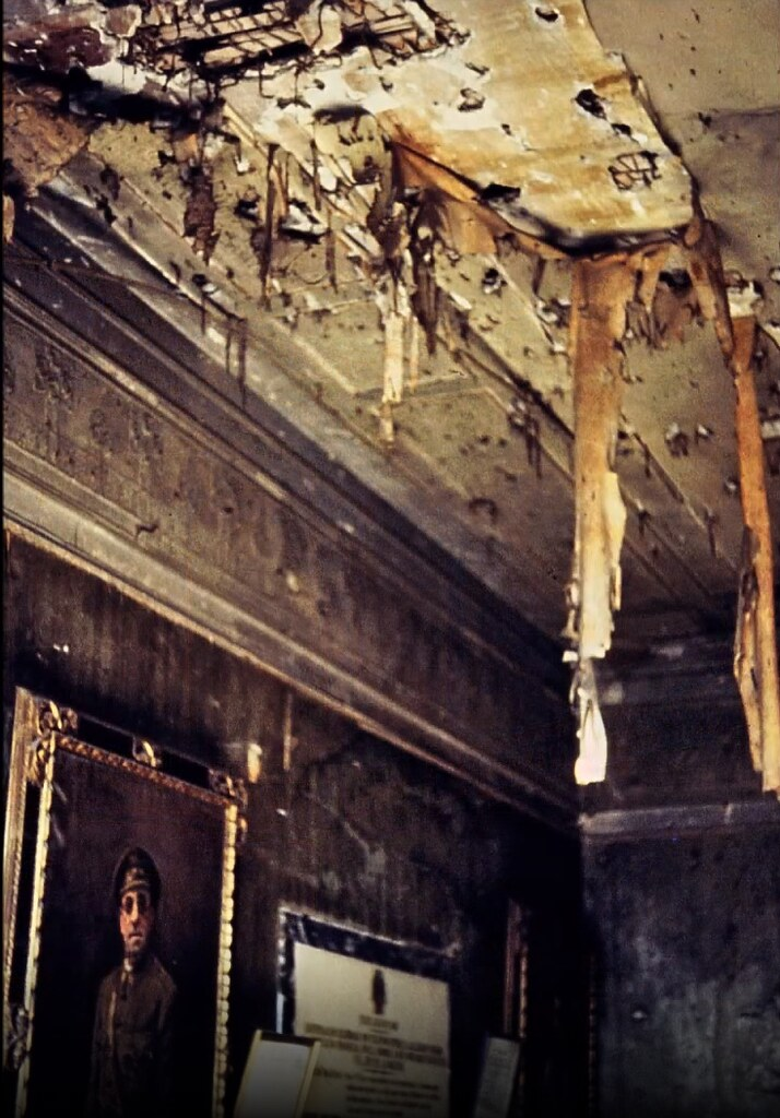 Despacho de Moscardó en el Alcázar de Toledo el 30 de diciembre de 1977. Fotografía de Peter Laurence