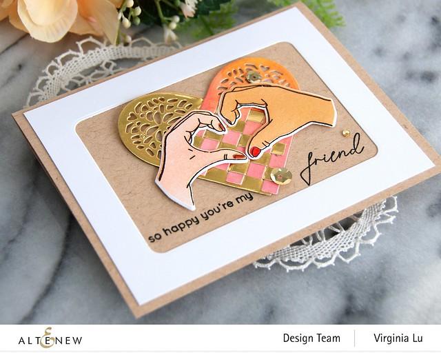 Altenew-A little Bit of Love Stamp & Die Bundle-Woven Heart Die Set-001