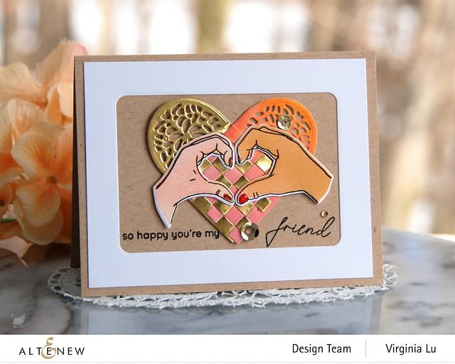 Altenew-A little Bit of Love Stamp & Die Bundle-Woven Heart Die Set