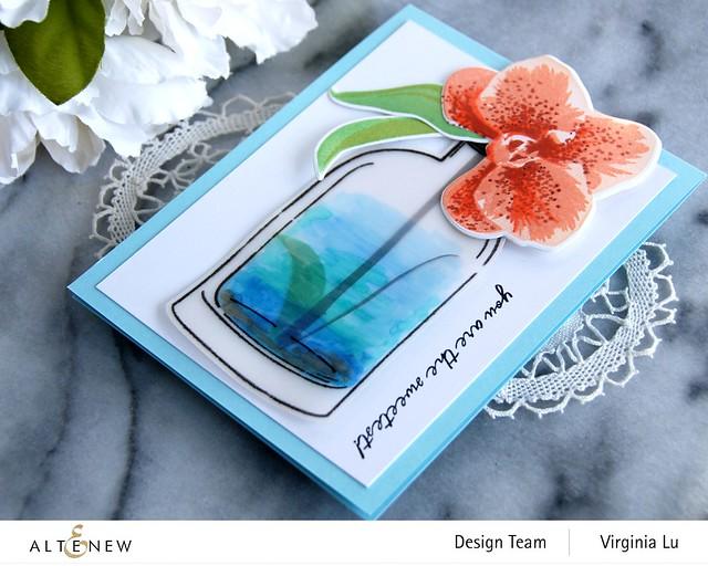 Altenew-Versatile Vases 2 Stamp & Die Bundle-Spotted Orchid Stamp Stencil & Die Bundle (2)