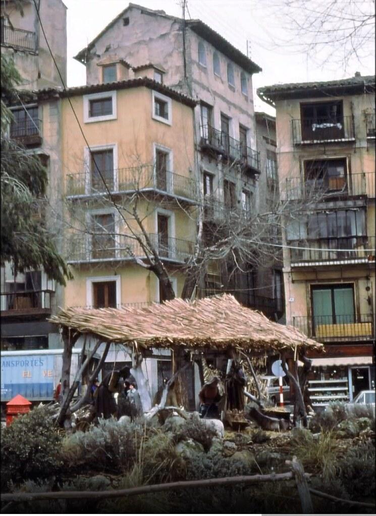 Belén en la Plaza de Zocodover en Toledo el 30 de diciembre de 1977. Fotografía de Peter Laurence
