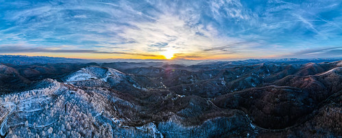unitedstates northcarolina marshill sunset mountains drone northcarolinamountains dji dronephotography mavicair2