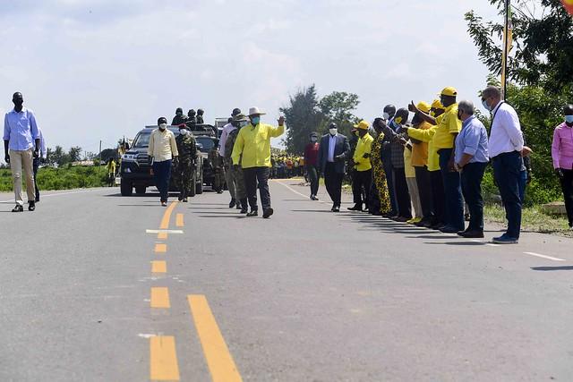 Ishaka - Katunguru road (58km) road Commissioned - 16 (1)