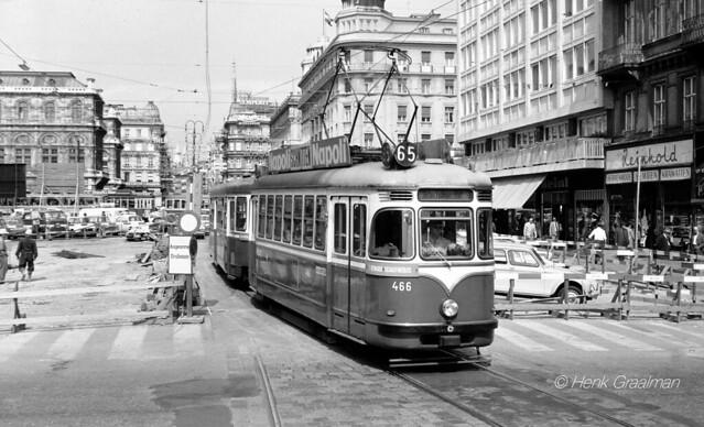 Wien Strassenbahn Garnitur 1970
