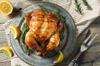 Homemade Rotisserie Chicken with Herbs | by dellacooks.com