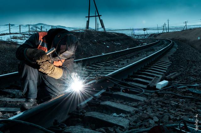 rail track repair work...